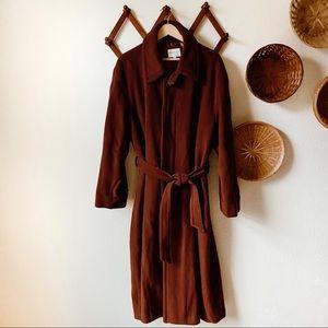 Beautiful Vintage Dark Rust  Winter Coat